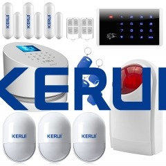 New Kerui W2 2.4G WIFI network GSM PSTN wireless best home burglar security alarm system