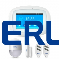 KERUI k52 WIFI GSM Kerui 4.3 inch TFT color screen smart home alarm system