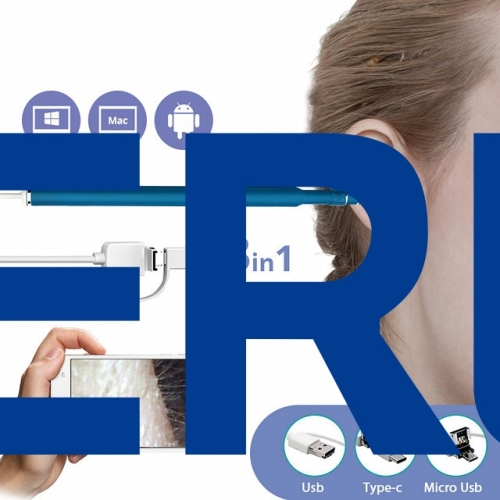 3 in 1 USB OTG Visual Android 720P Ear Cleaning Endoscope