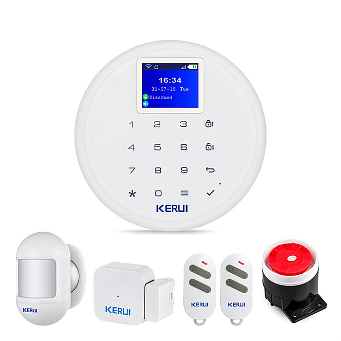 New KERUI Mobile Control AP Linkage WiFi 2G 3G 4G GSM Home Security on