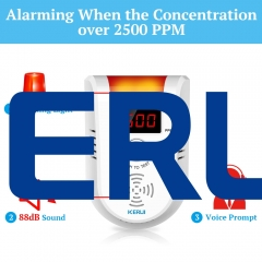 KERUI GD13 Stand alone 88db alarm lpg gas leak detector with smart home alarm system