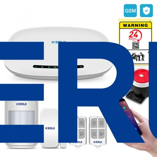 KERUI w19 GSM Alarm System Security Auto Dial APP Wireless Home Burglar Fire Alarm System