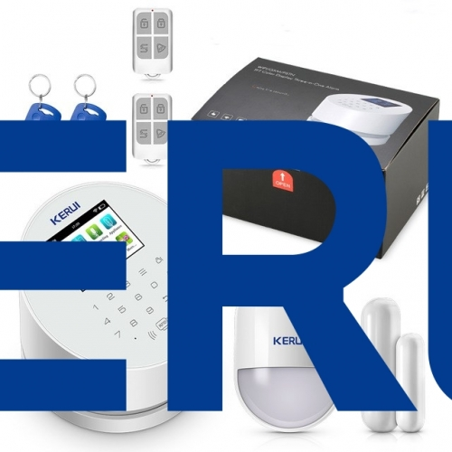 KERUI W2 Wifi GSM Wireless alarm Panel IOS andorid APP PSTN line telephone RFID Disalarm Security Alarm